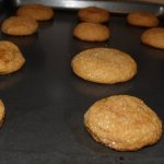 Gingersnap cookies, fresh from the oven