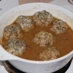 Beef Goulash with Fluffy Parsley Dumplings
