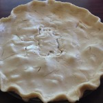Strawberry Rhubarb Pie before it enters the oven