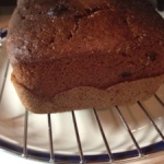 Double chocolate banana walnut loaf