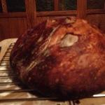 A rustic boule