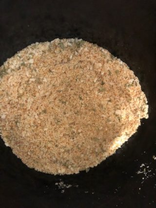 Breadcrumbs from scratch with dried herbs