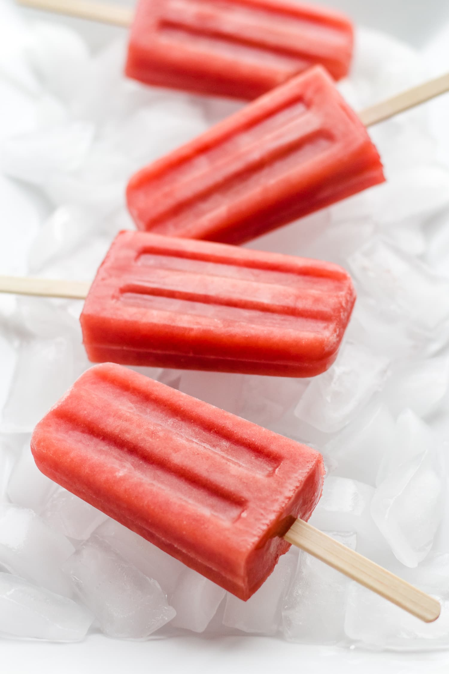 Watermelon Strawberry Popsicles