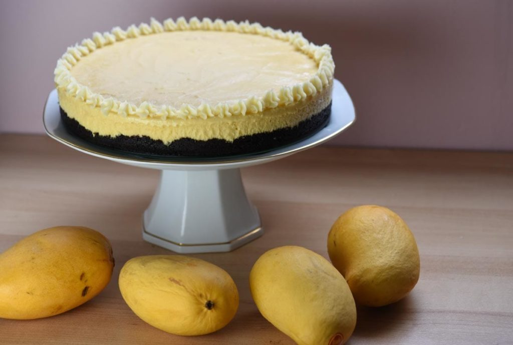 Mango Ice Cream Cake